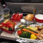 Iberia Airlines Dairy-Free Dinner on International Flight